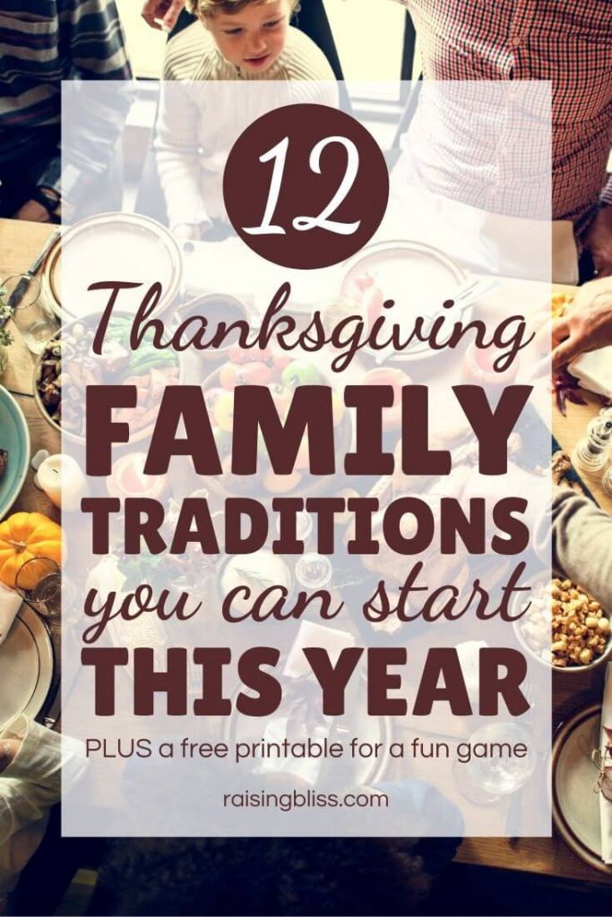 dinner table 12 Thanksgiving Family traditions you can start this year