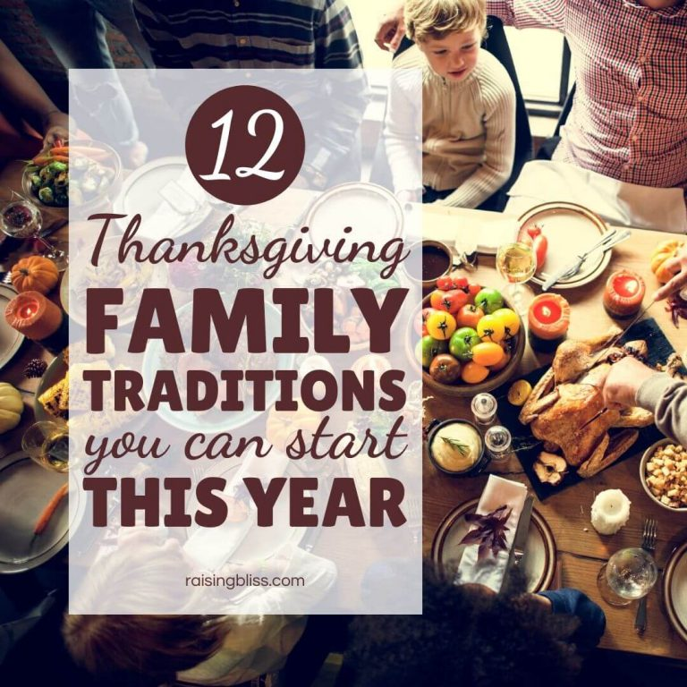 12 Thanksgiving Family Traditions You Can Start This Year