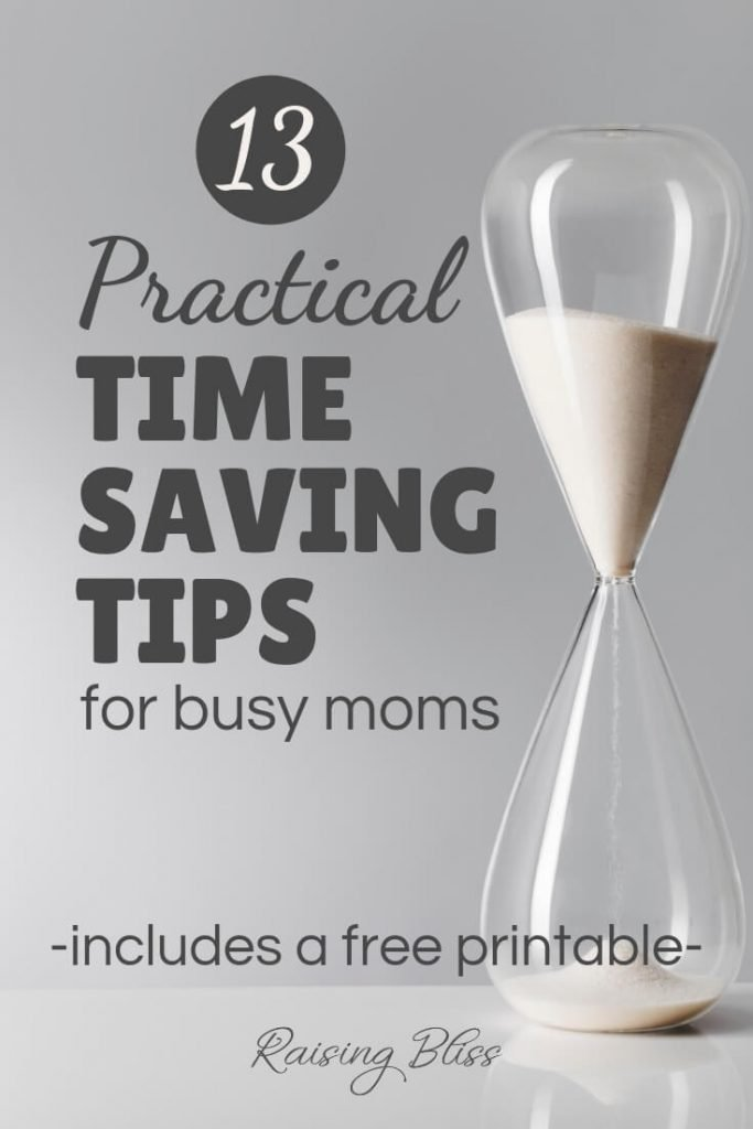 An hourglass with white sand on a white table 13 Practical Time Saving Tips for Busy Moms by Raising Bliss