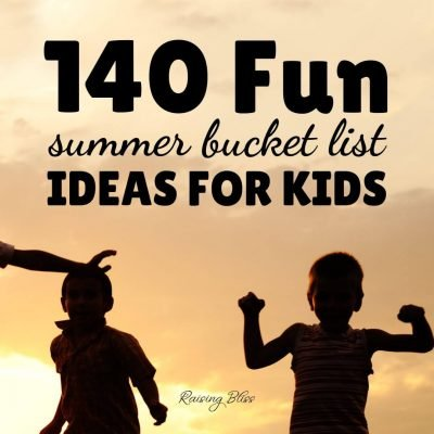 Kids playing outdoors 140 Fun summer bucket list ideas for kids by raising bliss