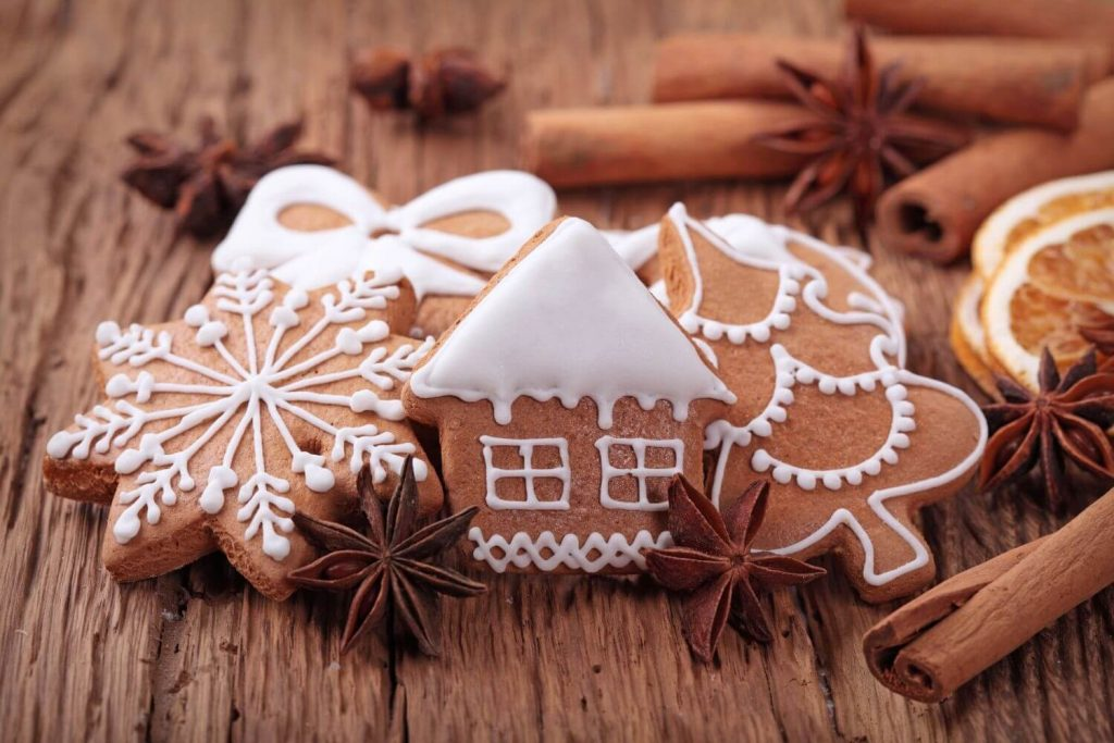 Decorated Christmas cookies things to do in winter
