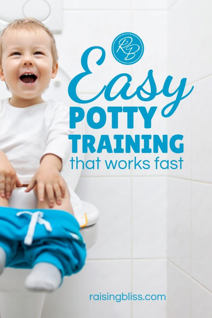 Happy toddler on the toilet Easy potty training that works fast by raising bliss