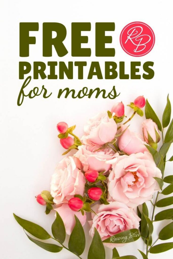 Pink roses on a desk free printable for moms by raising bliss