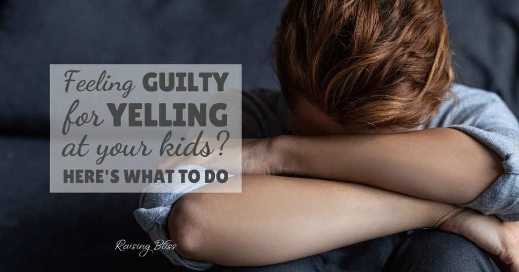 Woman hiding her face Feeling guilty for yelling at my kids here is what to do