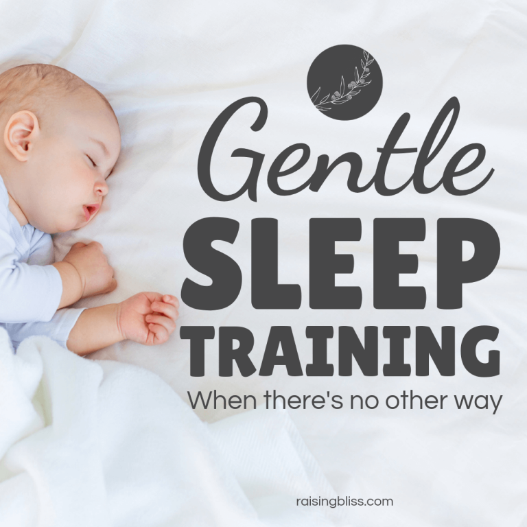Gentle Sleep Training When There's No Other Way