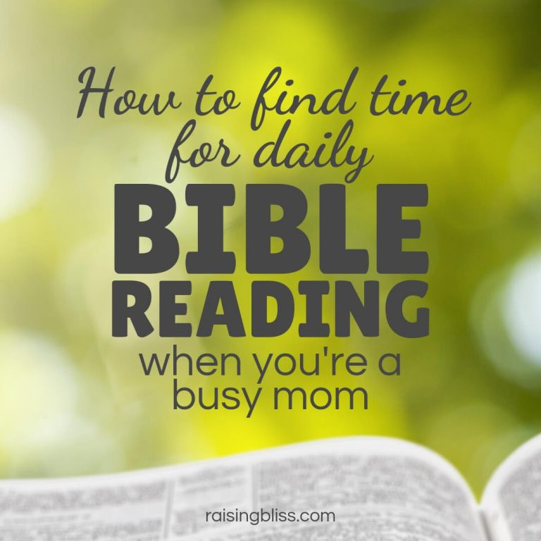 How to Find Time For Daily Bible Reading