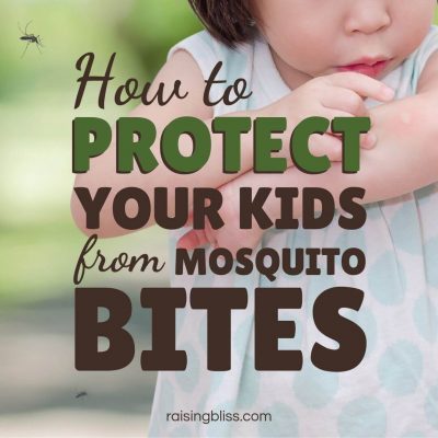 Little girl itching a bug bite. How to Protect Your Kids from Mosquito Bites by Raising Bliss
