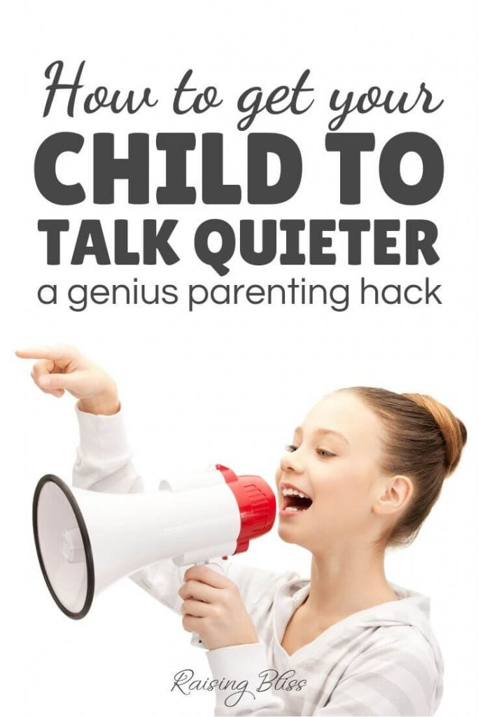 Young girl with a megaphone How to get your child to talk quieter by raising bliss