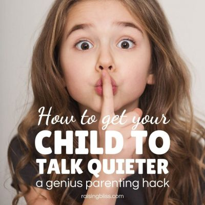 Little girl showing shush sign How to get your child to talk quieter by raising bliss