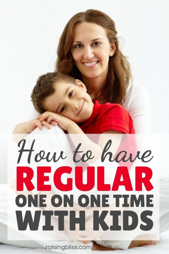 mom and son How to have regular one on one time with kids by Raising Bliss
