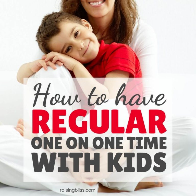 How to Have Regular One on One Time With Kids