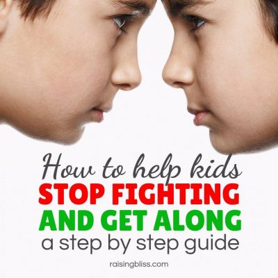 How to Help Kids Stop Fighting and Get Along – a Step by Step Guide
