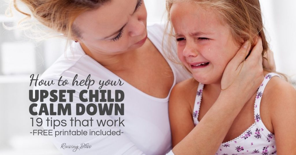 Mom comforting daughter How to help your upset child calm down