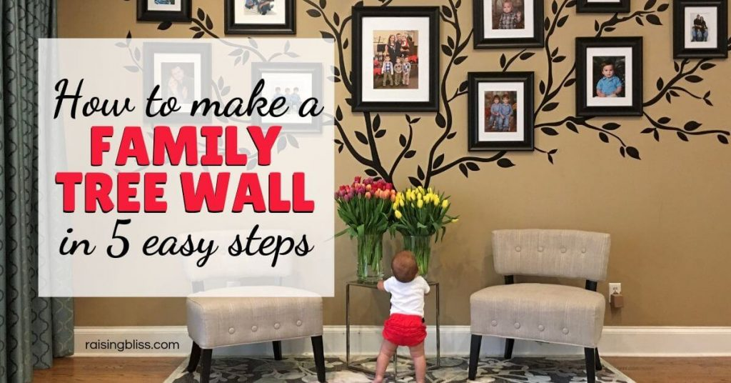 Family Tree Mural - How to make a family tree wall in 5 easy steps by raising bliss