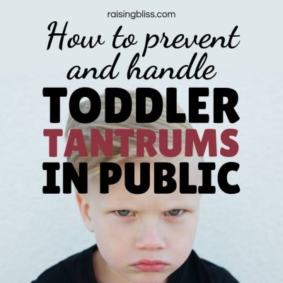 Upset little boy with furrowed eyebrows. How to prevent and handle toddler tantrums in public by raising bliss