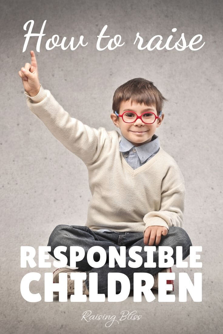 independent little boy How to raise responsible children by Raising Bliss