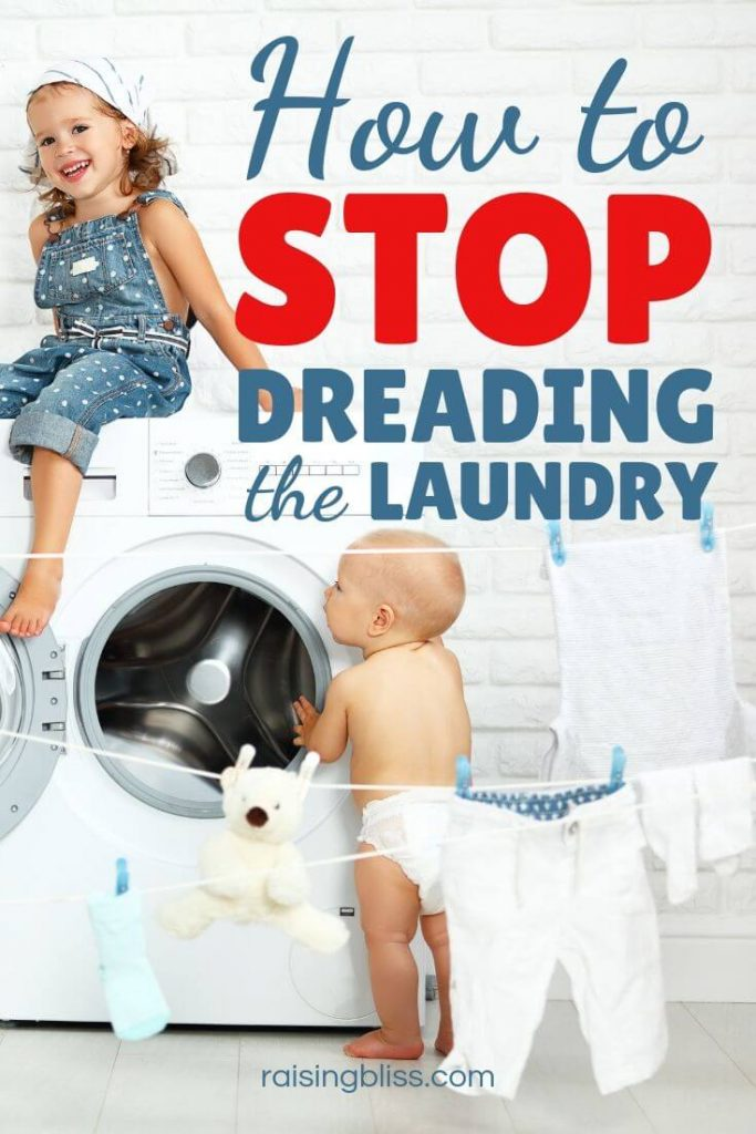 Happy kids and a laundry machine How to stop dreading the laundry
