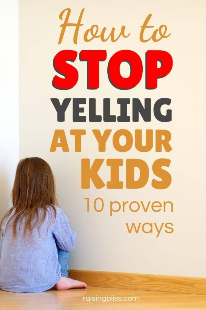 Girl sitting in the corder sad How to stop yelling at your kids 10 proven ways by raising bliss