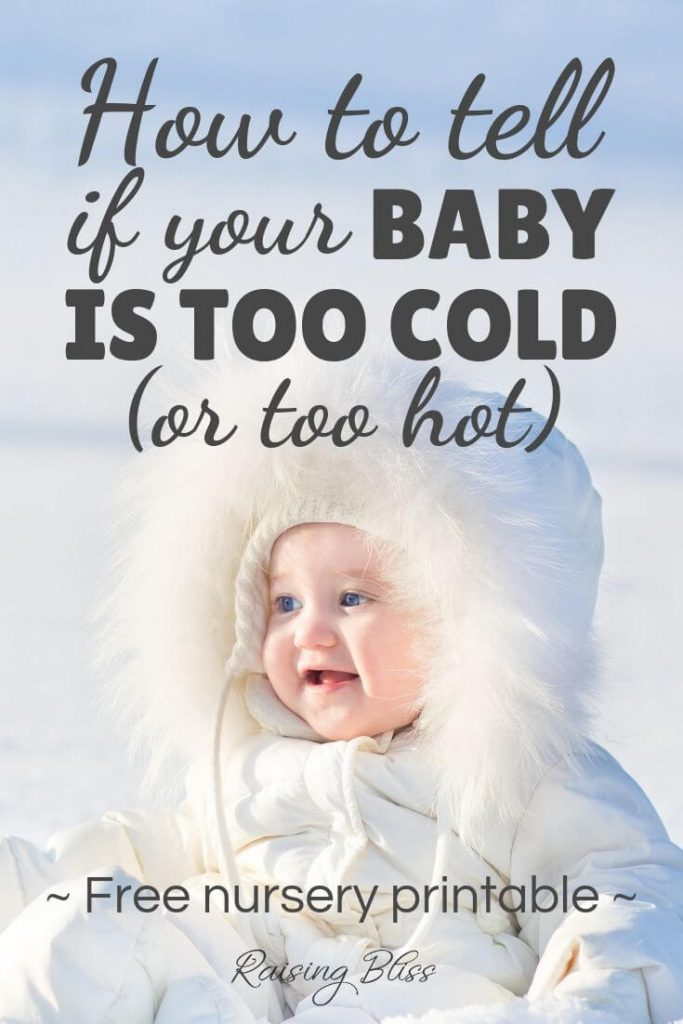 Bundled baby in the snow How to tell if your baby his too cold or too hot by raising bliss