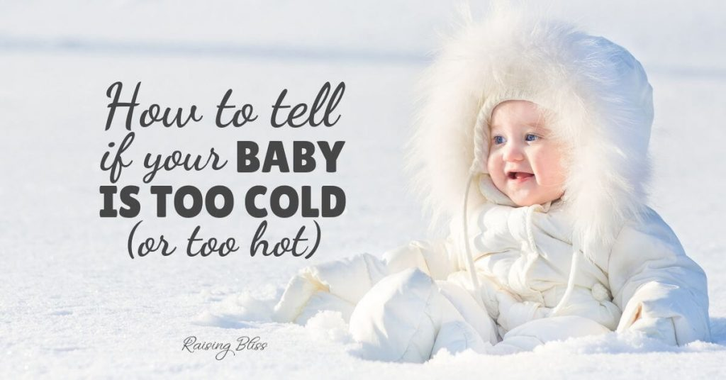 snow baby How to know when your baby is too cold or too hot by raising bliss