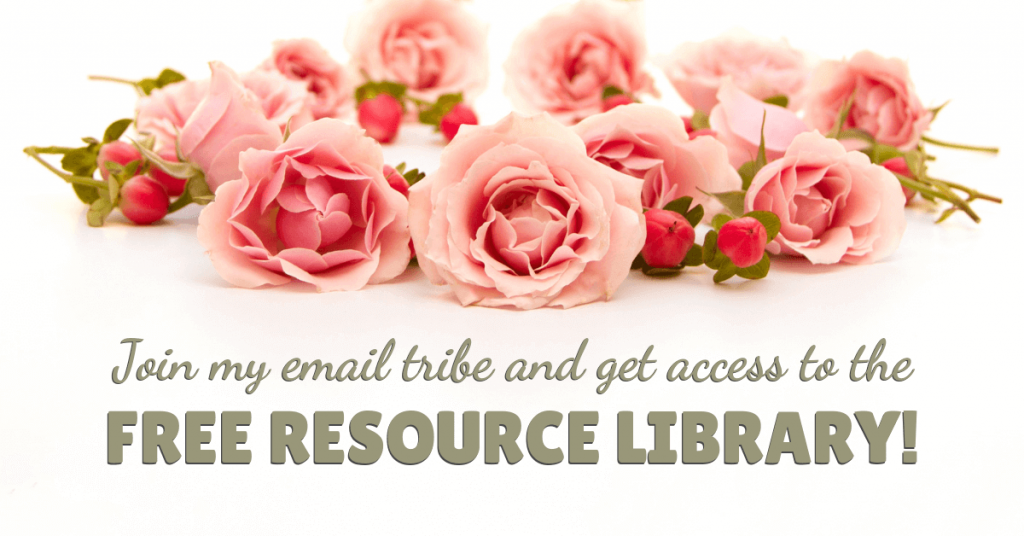 Invitation to a free resource library by Raising Bliss - Enjoying Motherhood