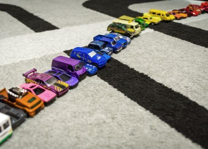 Raising boys means toy cars everywhere