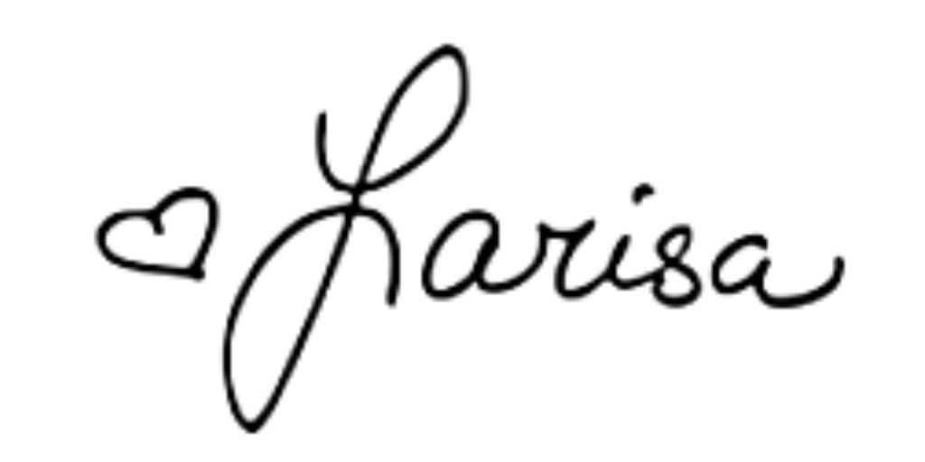 Signature of Larisa at Raising Bliss