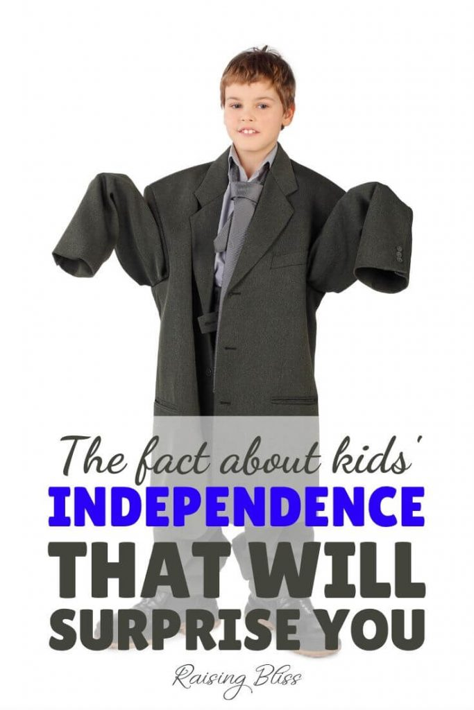 Boy in oversized suit The fact about kids independence that will surprise you