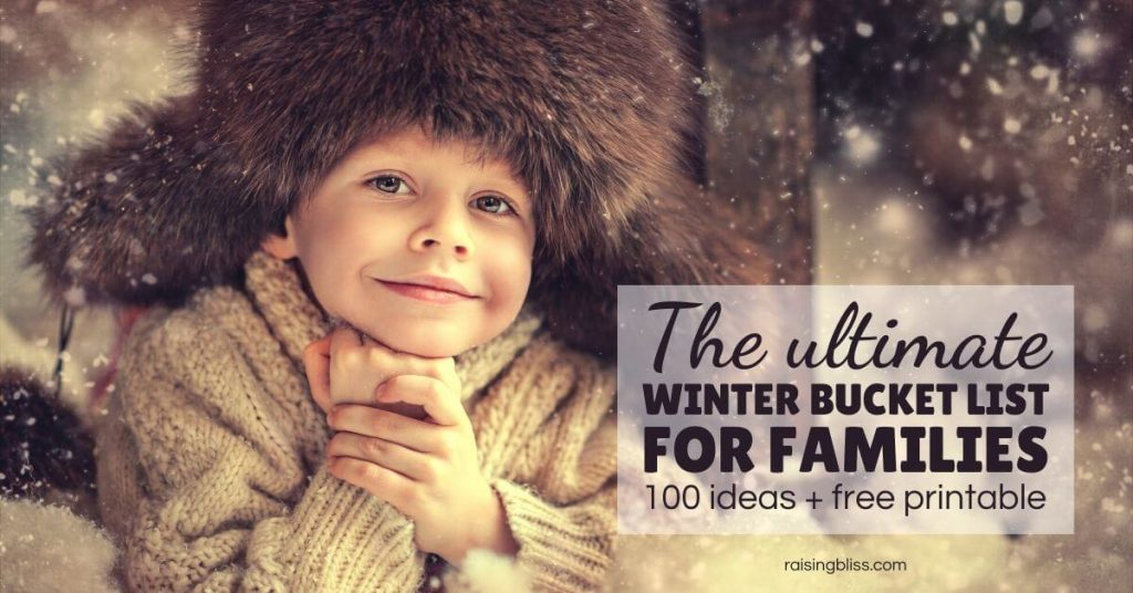 Little boy in a warm hat The ultimate winter bucket list for families 100 ideas