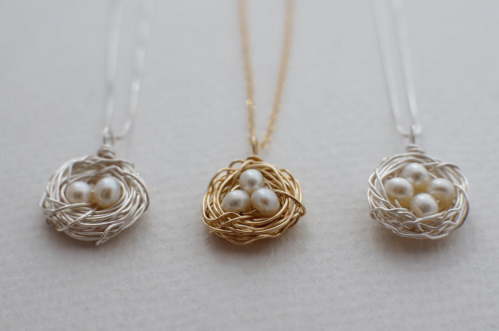 bird nest necklace for mom