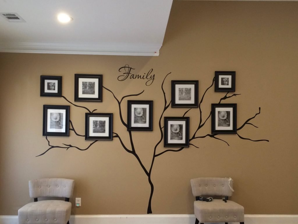 family tree wall mural in progress - How to make a family tree wall in 5 easy steps by raising bliss