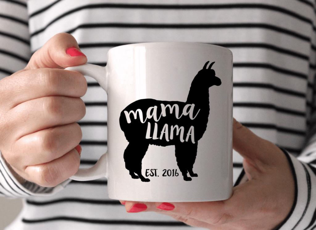 mama llama coffee mug