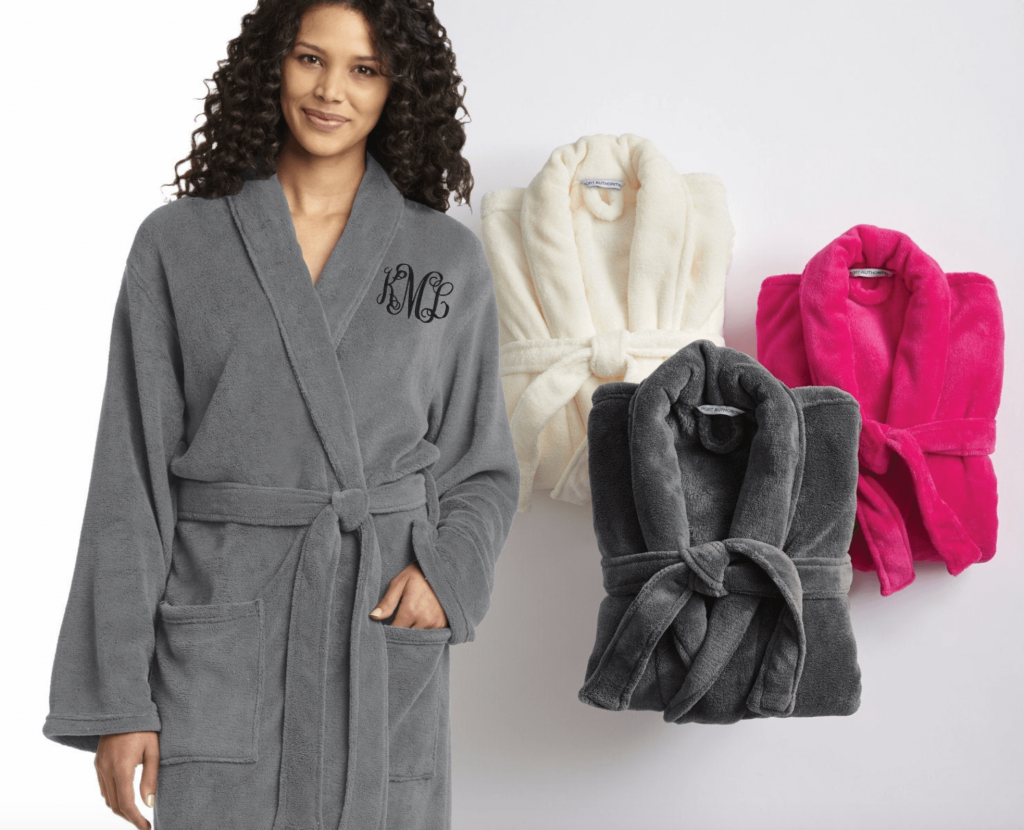 personaized bath robe for mom