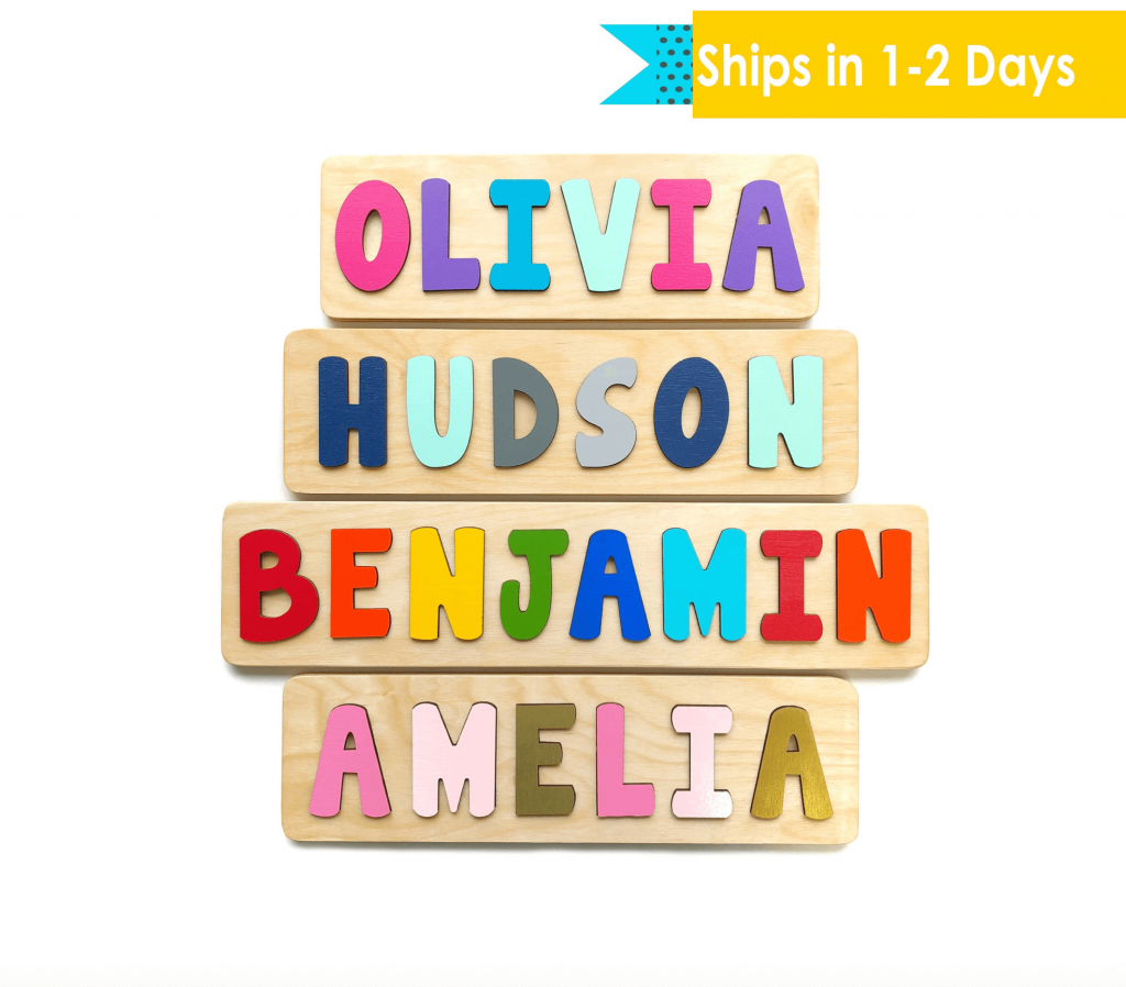 wooden personalized name board